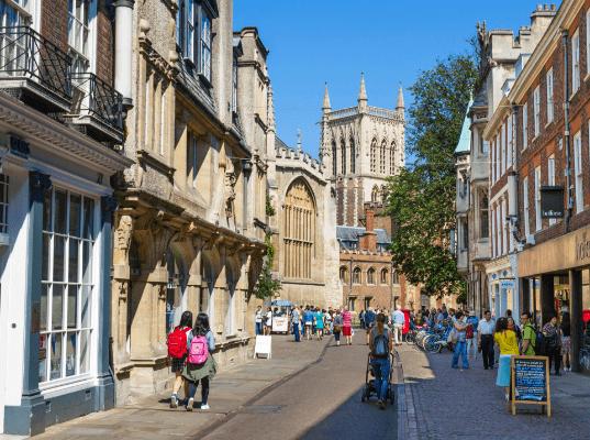 The heart of Cambridge city centre